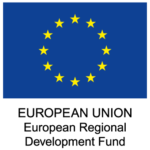 The European Union logo with the text EUROPEAN UNION European Regional Development Fund